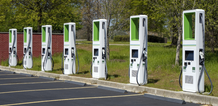 Station de recharge pour véhicules électriques