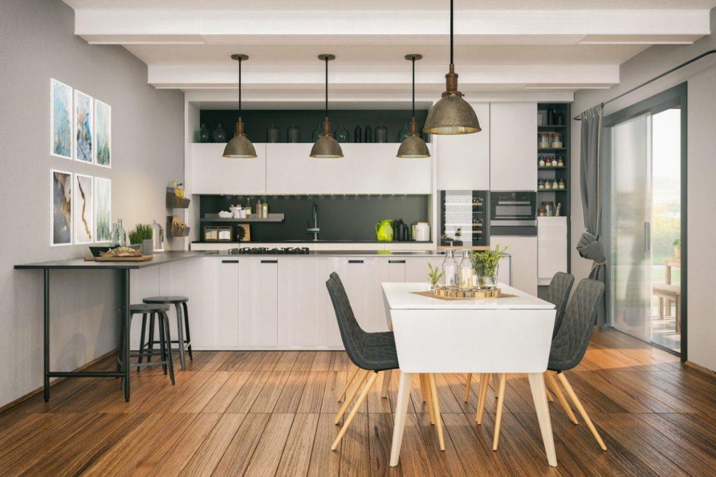 comment reunir cuisine et salle a manger