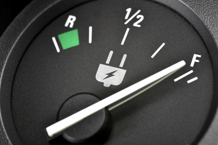 La jauge d'énergie d'une voiture électrique